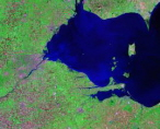 Western Lake Erie Landsat